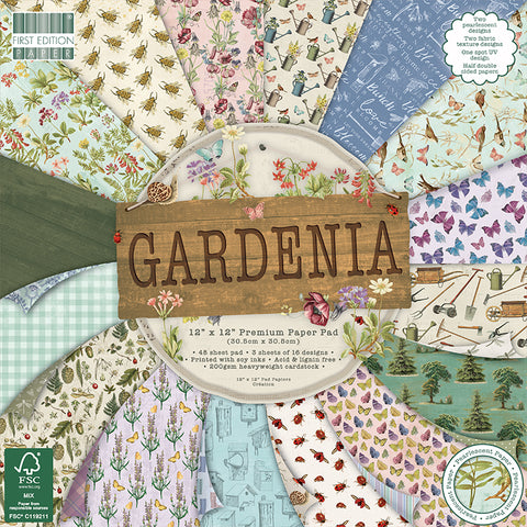"First Edition Gardenia 12""x12"" Paper Pad 200sm 01/2020"