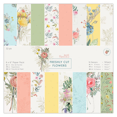 fresh flowers paper pad