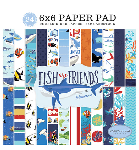 carta bella fish are friends paper pad