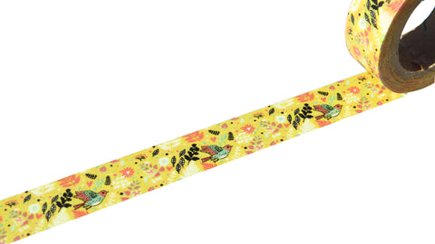 flowers and birds washi tape