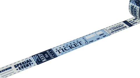 blue tickets washi tape