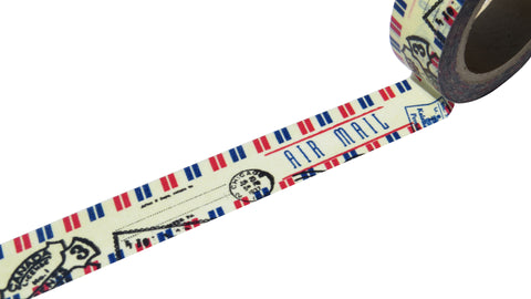 retro air mail washi tape