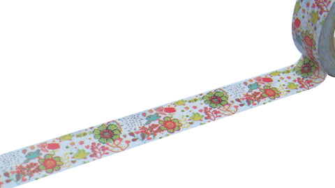 kawaii flowers washi tape