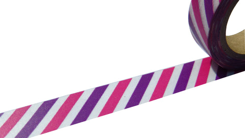 pink purple stripe washi tape