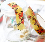 autumn flowers masking tape