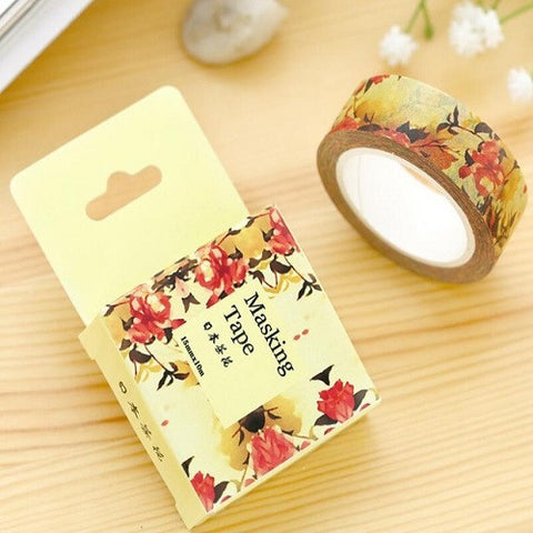 autumn flowers washi tape