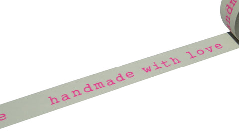 Neon Pink Handmade With Love Washi Tape 01018