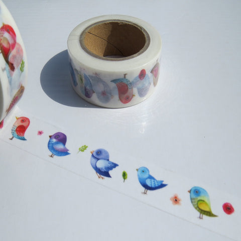 pretty birds washi tape