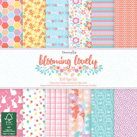 dovecraft blooming lovely paper pad