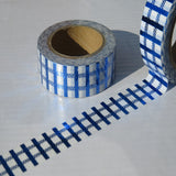 blue foil strip metallic washi masking tape