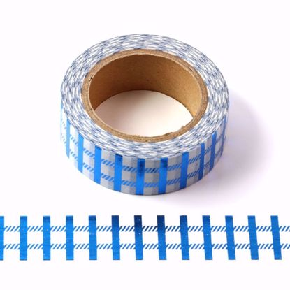blue metallic washi tape