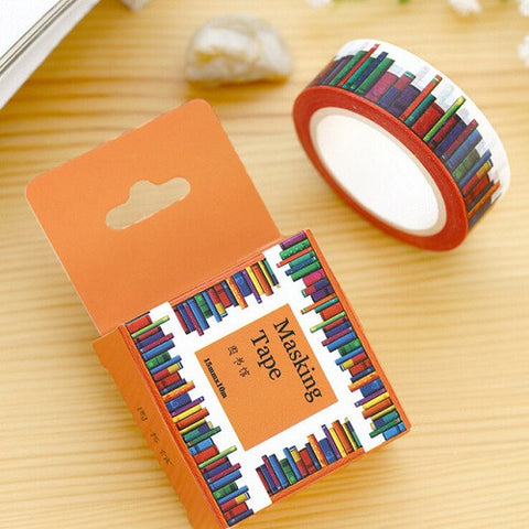 books washi masking tape