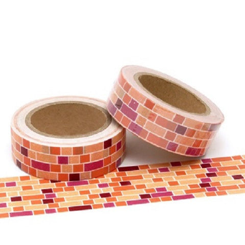 bricks washi tape
