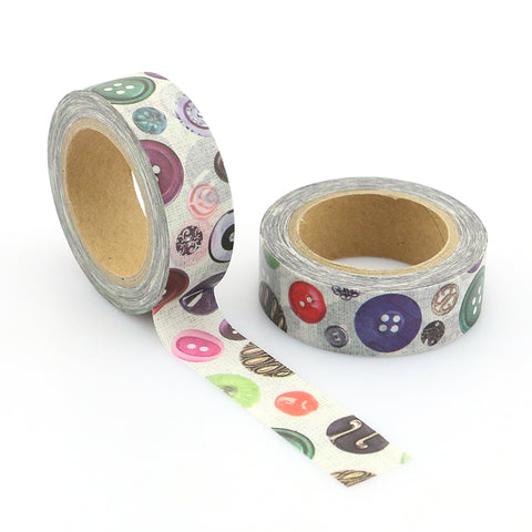 buttons washi tape