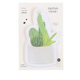cacti sticky memo marker notes