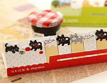 cats stick and memo sticky notes
