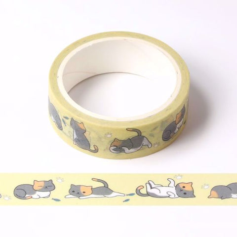 Cat Printing Washi Tape 07/19