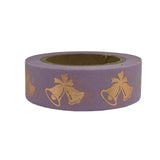 gold foil purple christmas washi tape