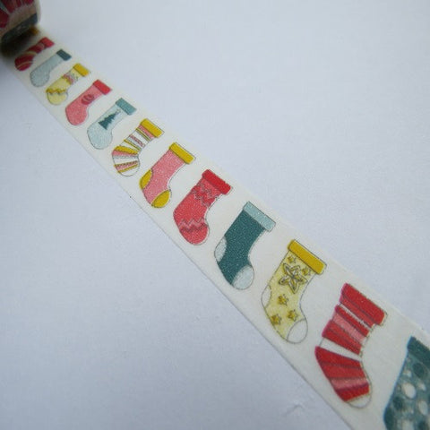 christmas socks washi tape