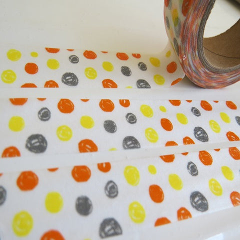 colourful spots/circles washi tape