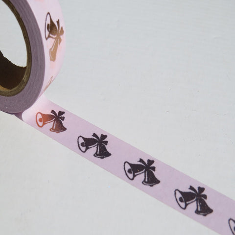 christmas purple bells washi masking deco tape