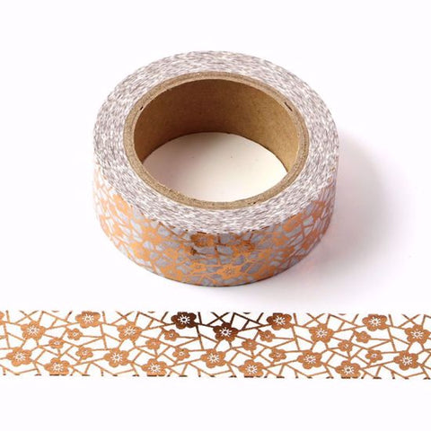 copper flowers washi tape