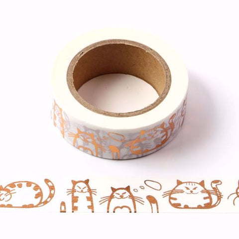 copper cats washi tape