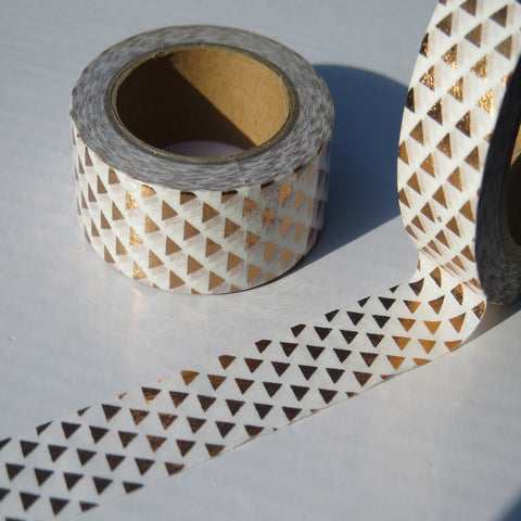 copper foil washi masking tape with a triangular pattern