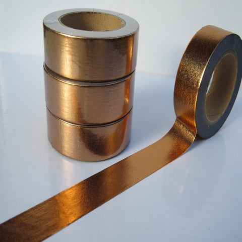 copper foil shiny metallic washi masking tape