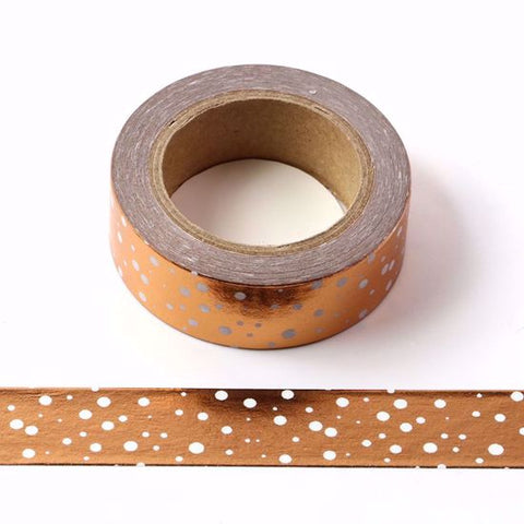 copper spots foil washi tape
