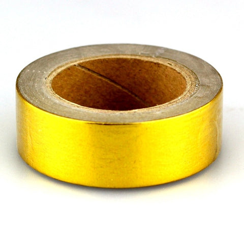 shiny gold foil washi tape