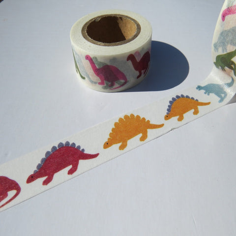 dinosaur washi masking gift wrapping tape