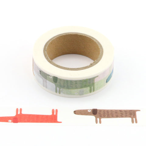 dogs washi tape