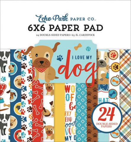 echo park i love my dog paper pad