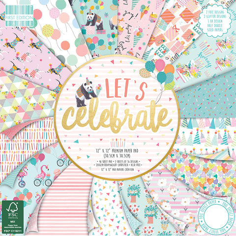 first edition let's celebrate paper pad