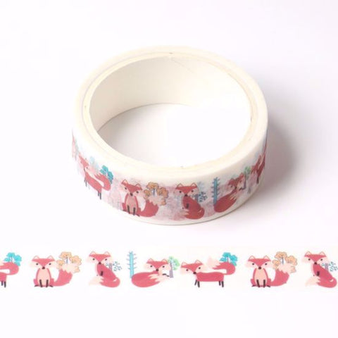 forest fox washi tape