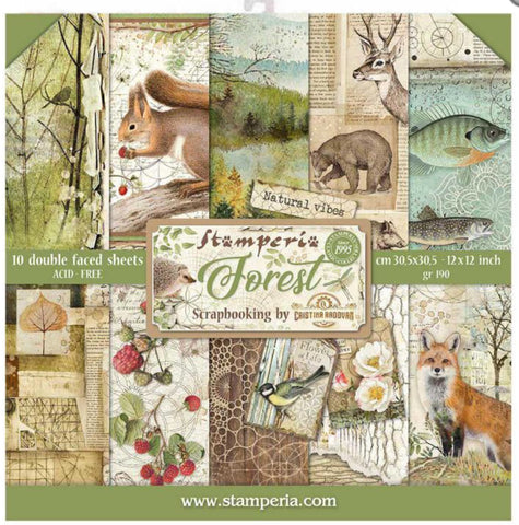 stamperia forest paper pad