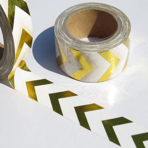 shiny gold foil arrows washi decorating tape