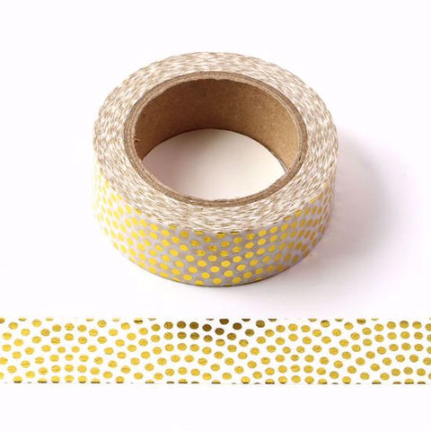gold dots washi tape