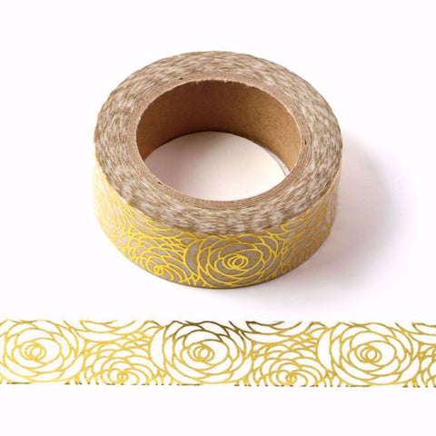 gold petals washi tape