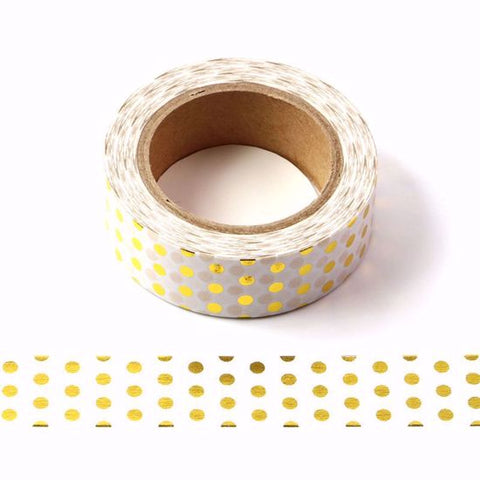 gold foil spots washi tape