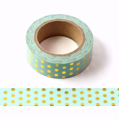 green gold spots washi tape