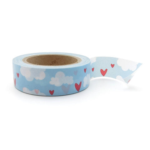 hearts in clouds washi tape