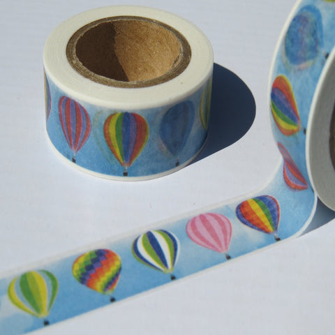 hot air balloons washi masking decorative planner tape