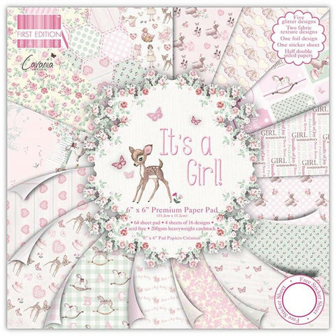 Firs Edition its a girl paper pad