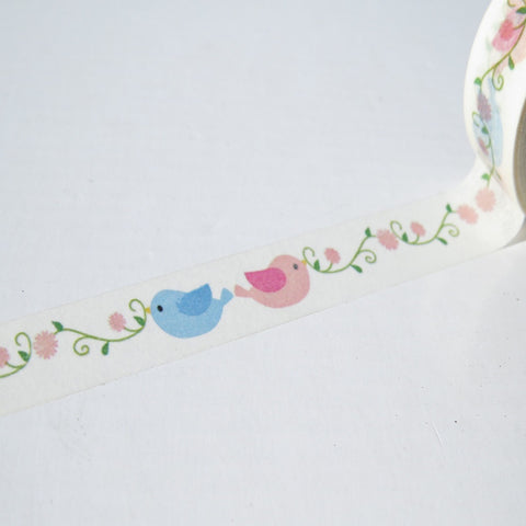 lovebirds romantic love washi masking decorative paper tape