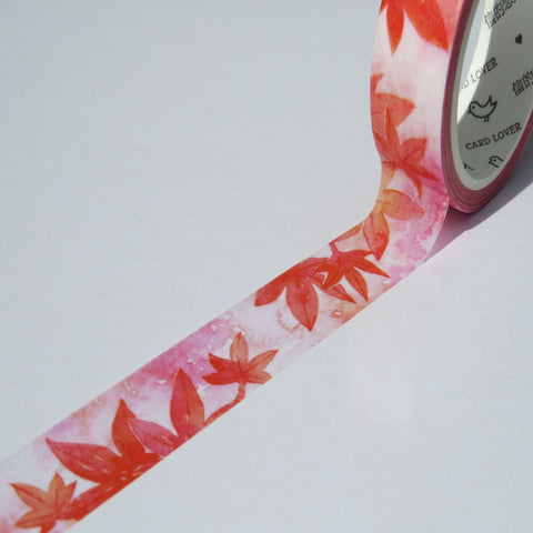 red maple leaf washi masking tape