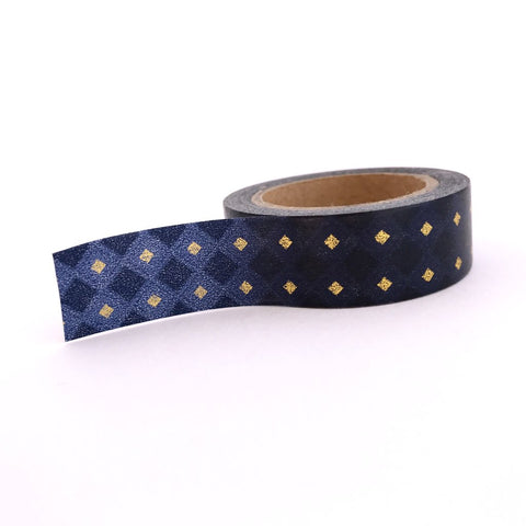 navy gold foil washi tape