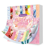 Hunkydory Paintdrop Florals 6 x 6 inch Paper Pad 160gsm