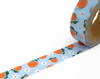 peaches washi tape